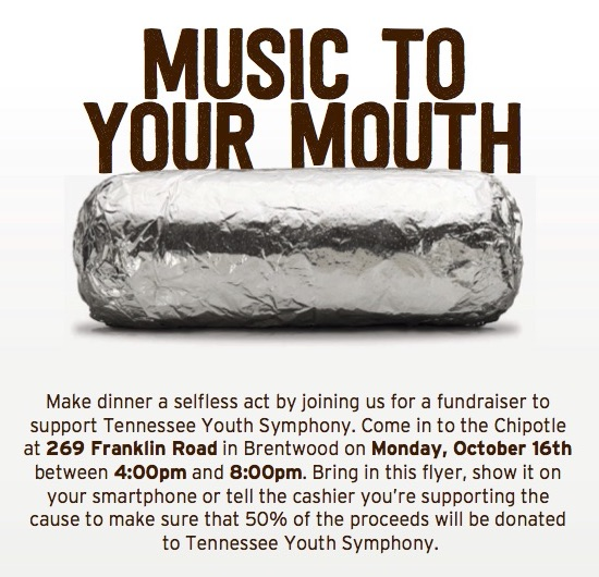 TYS Fundraiser – Chipotle
